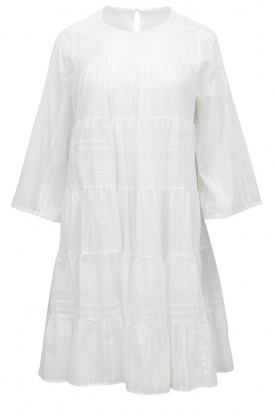 Devotion |  Cotton dress with ruffles | white
