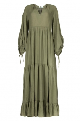 Devotion |  Cotton maxi dress Dories | green