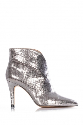 Toral |  Leather ankle boots Lulu | silver