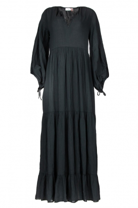 Devotion |  Cotton maxi dress Dories | black