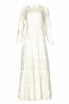 Devotion | Striped maxi dress Evie | white