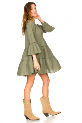 Look Cotton dress with ruffles Rosaline