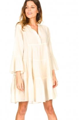 Devotion | Katoenen jurk met ruches Rosaline | naturel: Cotton dress with r
