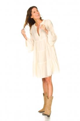 Look Katoenen jurk met ruches Rosaline