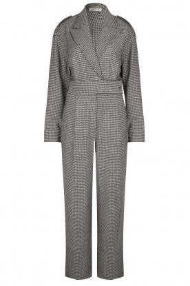 CHPTR S |  Tailored jumpsuit with print Melange | black & white