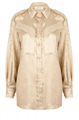 CHPTR S |  Shiny blouse Dolce | gold