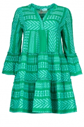 Devotion | Cotton dress with print Ella | green
