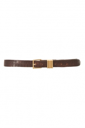 The Kaia |  Leather belt Polly | brown