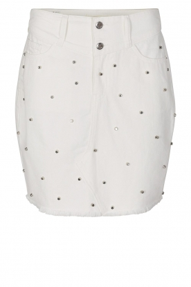Sofie Schnoor |  Studded jeans skirt Darma | white