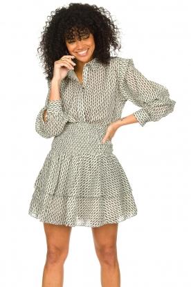 Sofie Schnoor | Katoenen blouse met ruches Aurora | zwart