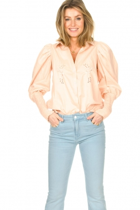 Sofie Schnoor |  Cotton blouse with puff sleeves Marie | pink