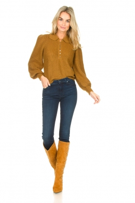 Look Knited sweater with puff sleeves Tilte
