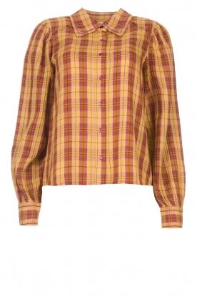 ba&sh |  Roze | Ruit blouse Sandy