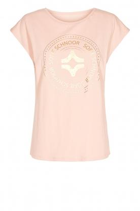Sofie Schnoor |  Cotton T-shirt with print Nicoline | pink