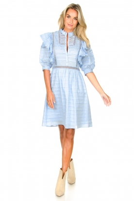 Look Cotton broderie dress with ruffles Kenzie