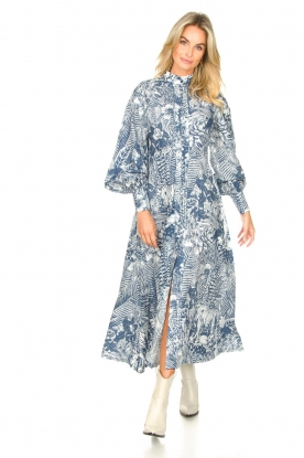 Look Maxi dress with leafs print Ludo