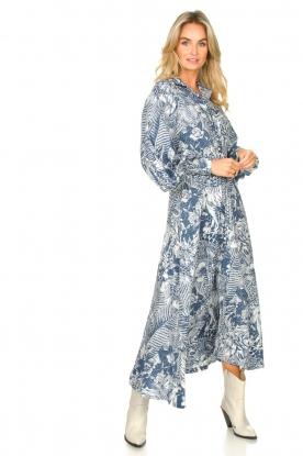 Silvian Heach |  Maxi dress with leafs print Ludo | blue