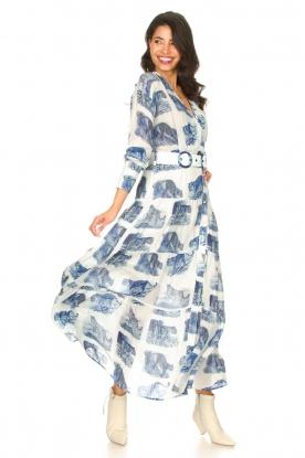 Silvian Heach |  Maxi dress with print Peakes | blue