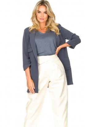 Silvian Heach    Blazer with three quarter sleeves Mirym   blue