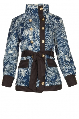 Silvian Heach | Kimono jacket with golden marine buttons Gulch | blue