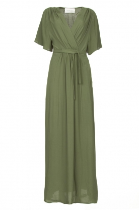 Silvian Heach | Maxi dress with waist belt Remus | green