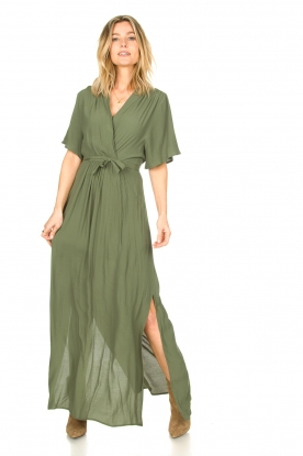 Look Maxi dress with waist belt Remus