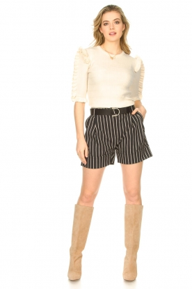 Look Lurex striped short Susani