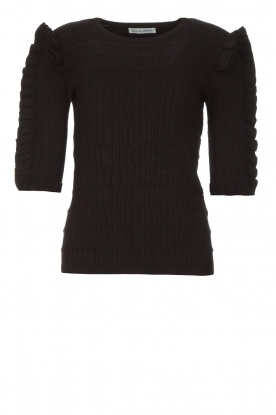 Silvian Heach | Sweater with ruffles Alastor | black