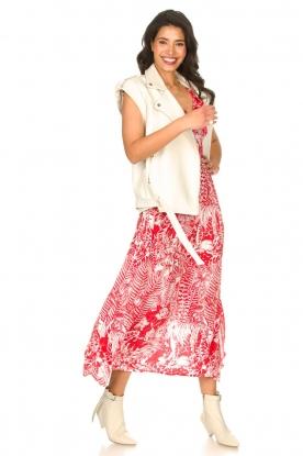 Silvian Heach |  Maxi dress with print Sirius | red
