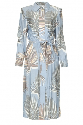 Silvian Heach |  Midi dress with shoulder pads Rye | blue