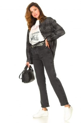 Look Checkered flannel blouse Jimi