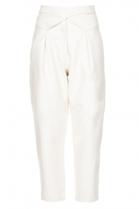 Silvian Heach | Faux leather pants with balloon legs | white