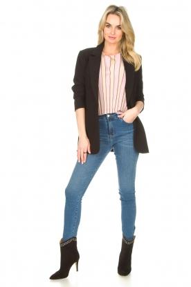 Lois Jeans |  L34 high waist skinny with split Celia | blue