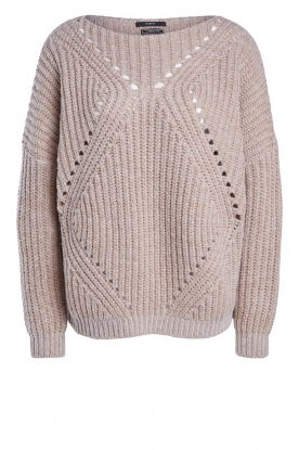 Set | Openwork sweater Noor | beige
