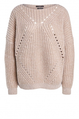 Set | Knitted openwork sweater Noor | beige