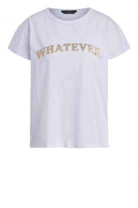 Set | T-shirt with print Whatever | white