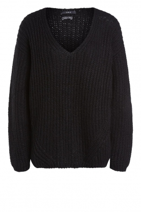 Set | Chunky knitted sweater Saar | black