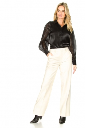 Set |  Flared trousers Lynn | white