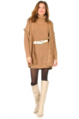 Look Knitted dress with zipper detail Pia