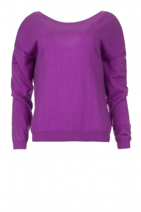 Les Favorites | Sweater with open back detail Dey | purple