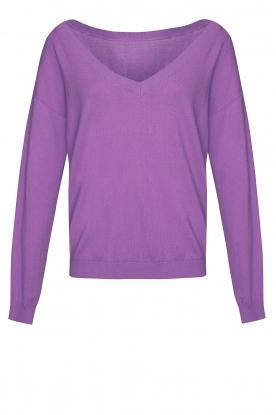 Les Favorites |  Basic cotton sweater Day | purple