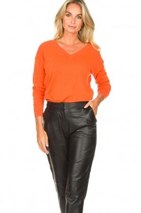 Les Favorites |  Basic cotton sweater Day | orange