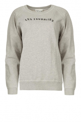 Les Favorites | Basic sweatshirt Posy | grey