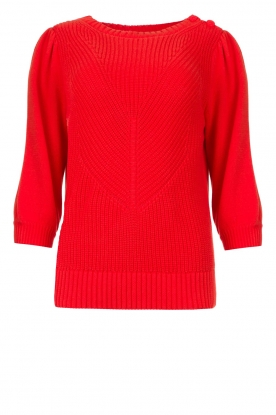 Les Favorites | Knitted sweater Scotty | red