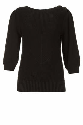 Les Favorites | Knitted sweater Scotty | black