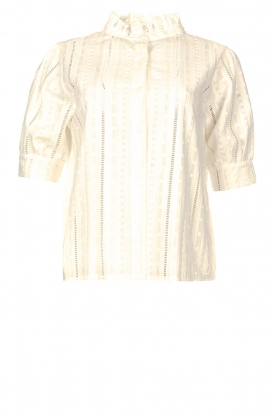 Les Favorites | Broderie blouse Amy | white