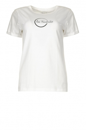 Les Favorites | Logo T-shirt Bobby | white