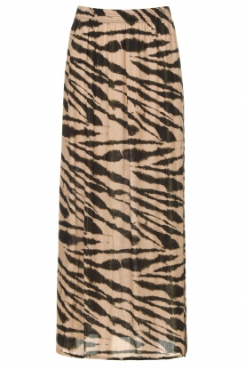 Les Favorites | Maxi skirt with zebra print Charlotte | black