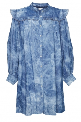 Les Favorites | Cotton dress with puff sleeves Dolly | blue
