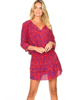 Les Favorites |  Dress with floral print Flori | pink